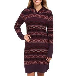 Prana Meryl Long Sleeve Hooded Sweater Dress Sz. M